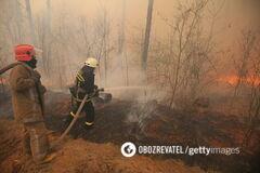 Спасатели локализовали пожар в зоне отчуждения ЧАЭС