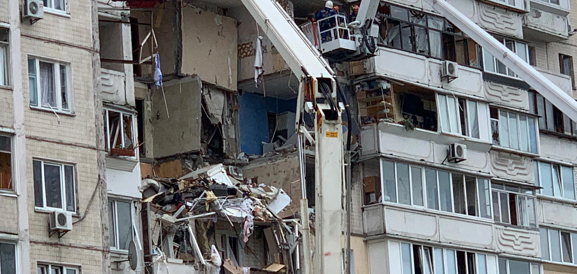 Взрыв в доме на Позняках (источник: LIGA.net)
