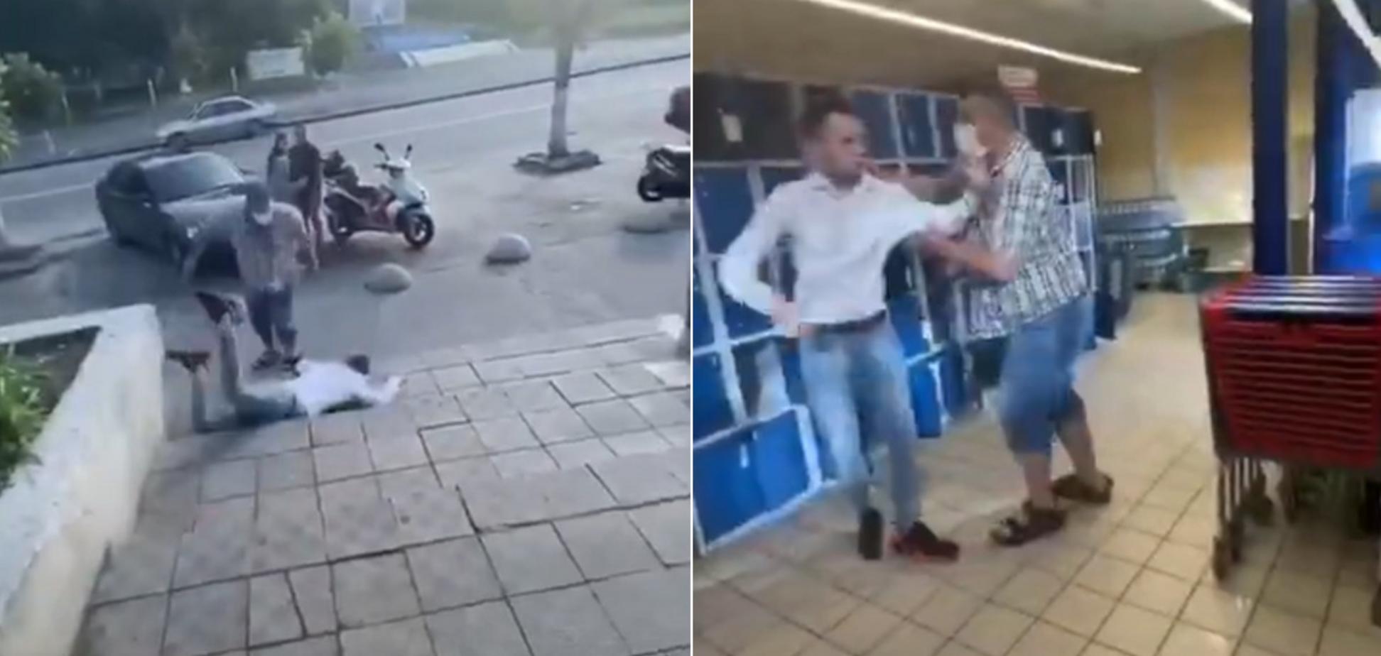 В супермаркете под Киевом парня избили палкой колбасы. Видео