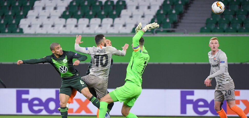 'Вольфсбург' - 'Шахтер' в 1/8 финала Лиги Европы