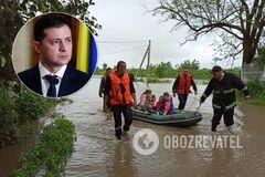 Зеленский распорядился направить помощь пострадавшим от наводнений украинцам