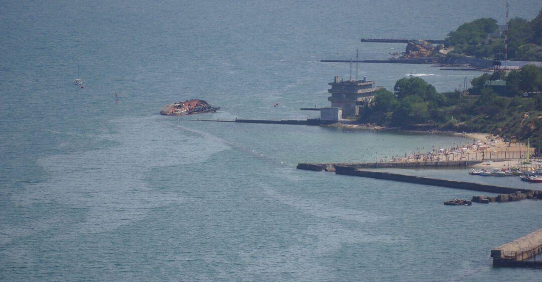 Место крушения танкера Delfi