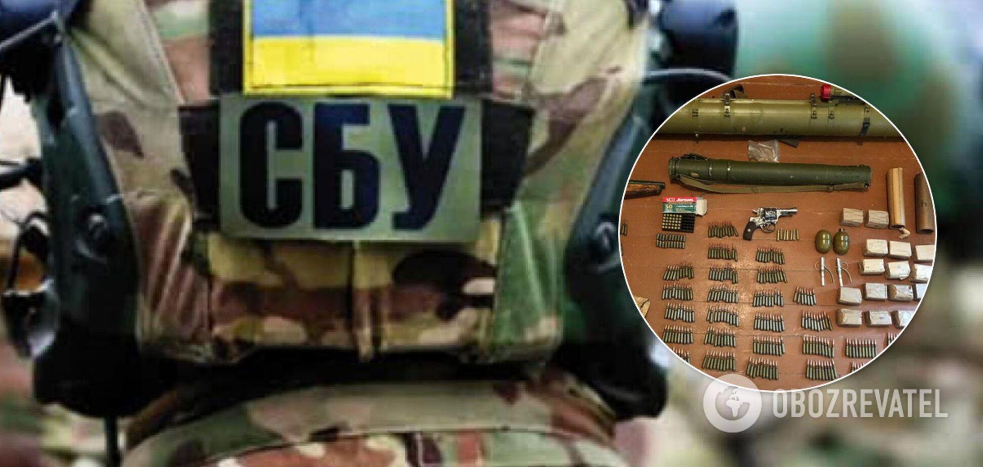 СБУ обнаружила арсенал оружия в Кривом Роге