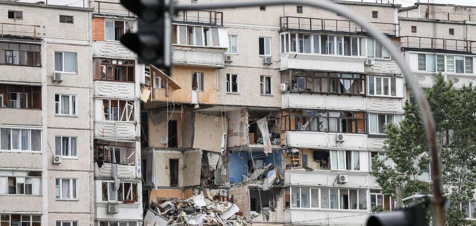 Взрыв на Позняках (источник: UAZMI)