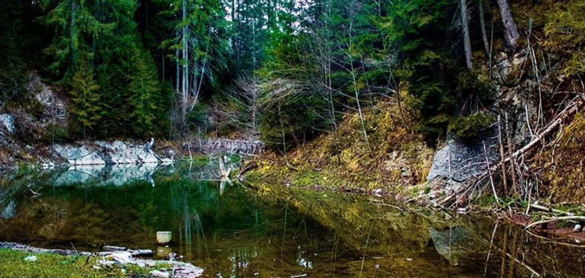 Озеро Кривое, которое исчезло вследствие наводнения