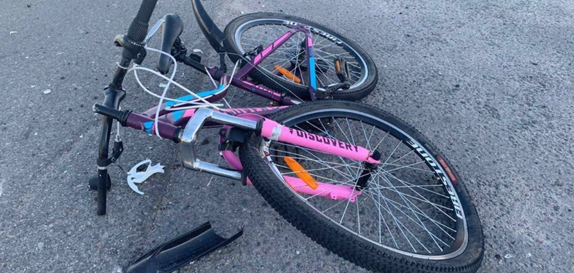 На Киевщине водитель сбил ребенка на велосипеде