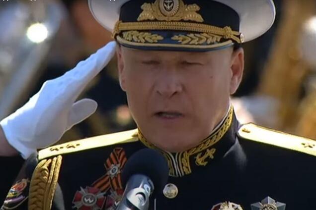 Сергей Елисеев пришел на парад в России с украинскими орденами
