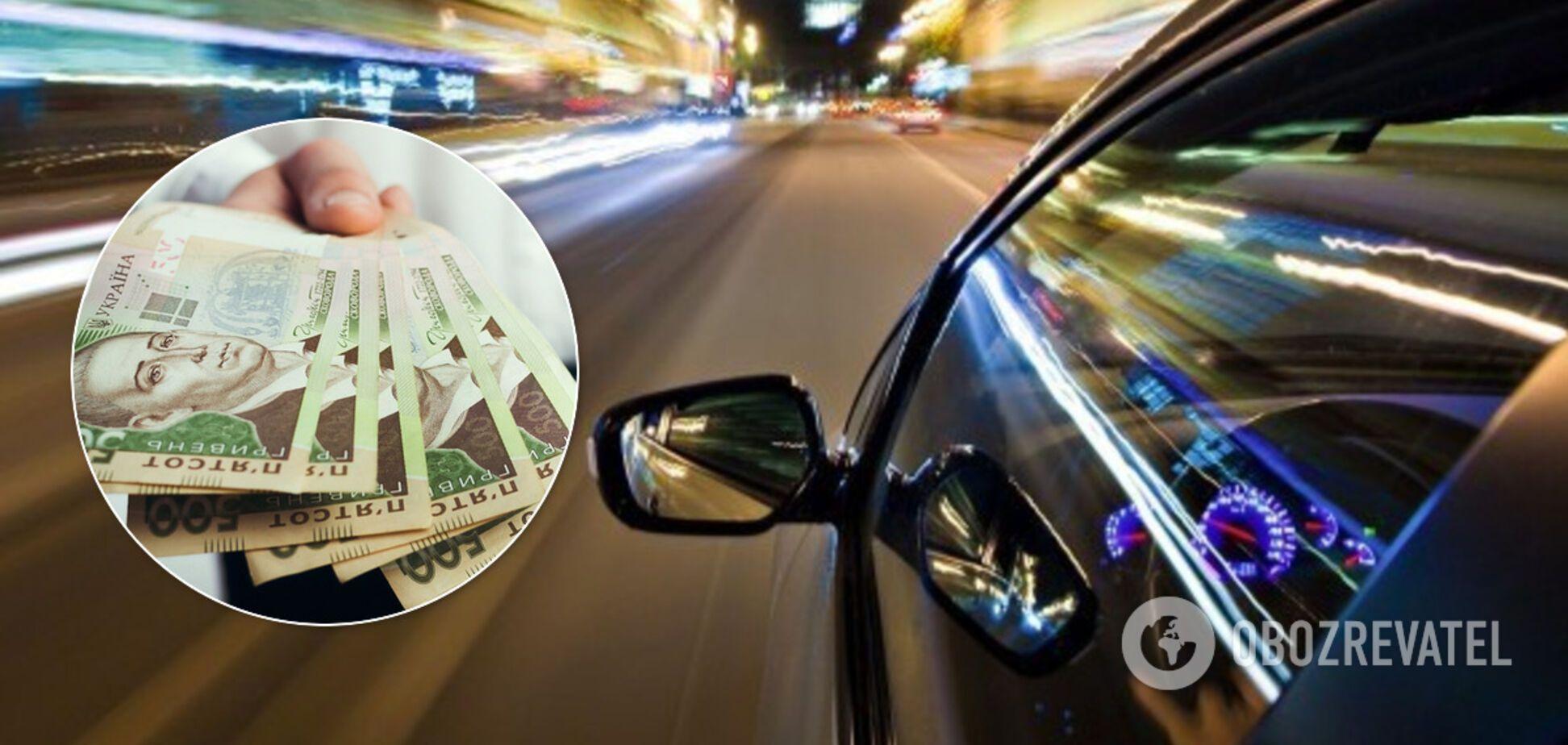В Украине могут поднять штрафы за превышение скорости. Иллюстрация