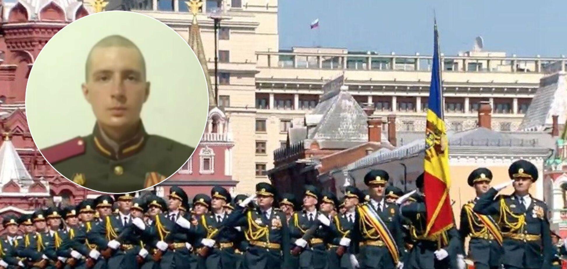 На параде Победы солдат разбил окно машины ФСО