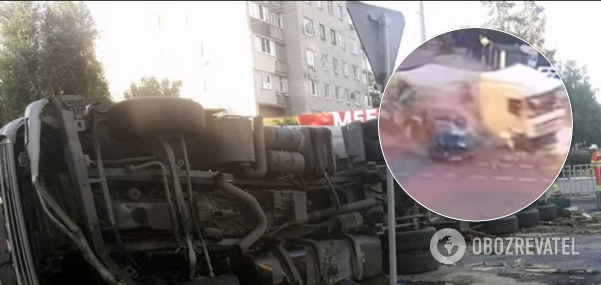 Момент смертельного ДТП с грузовиком в Днепре попал на видео