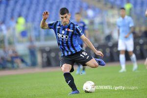 Руслан Малиновский в составе 'Аталанты' в матче против 'Лацио'