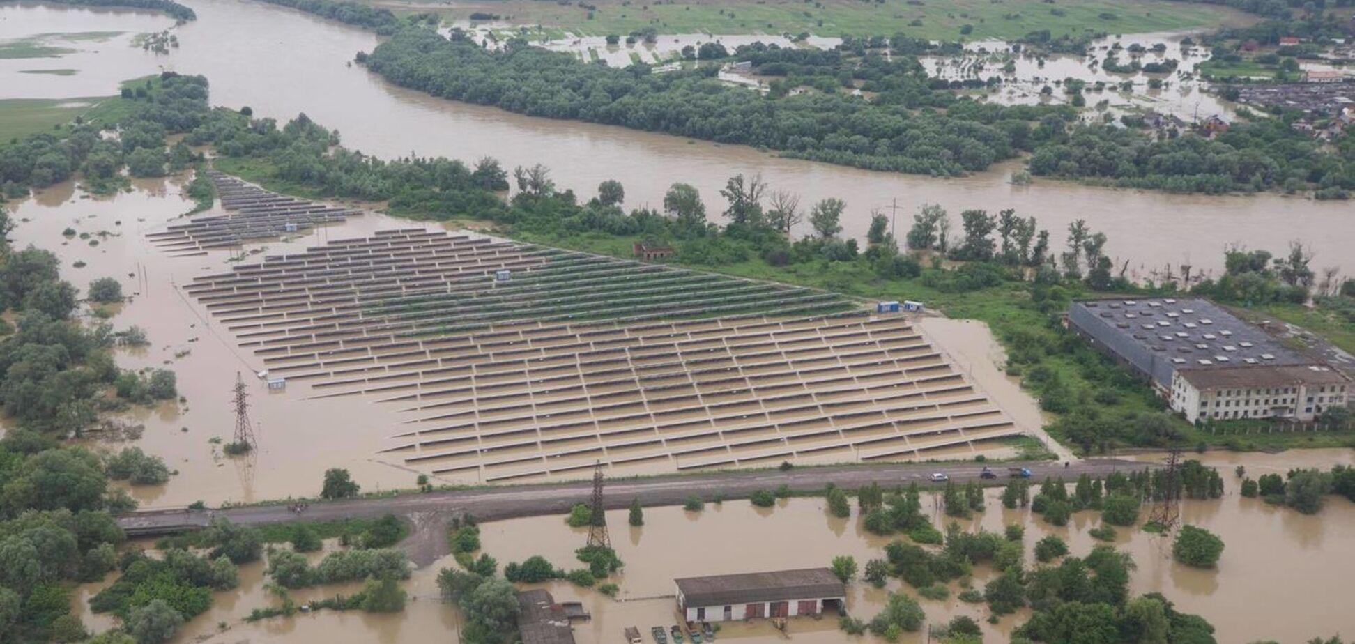 Наводнение на западе Украины. Фото - ГСЧС