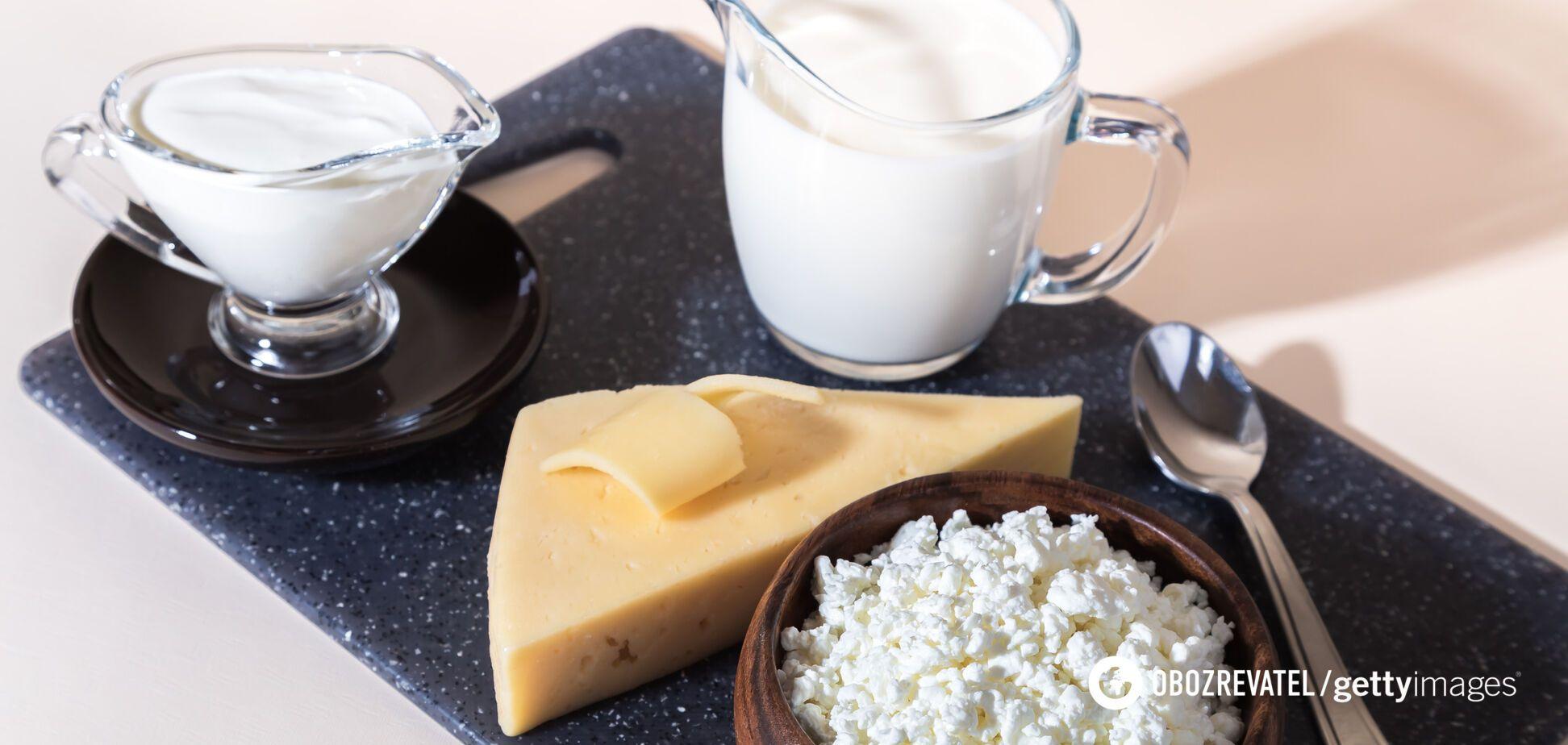 Молочні продукти є найвідомішим джерелом лактози