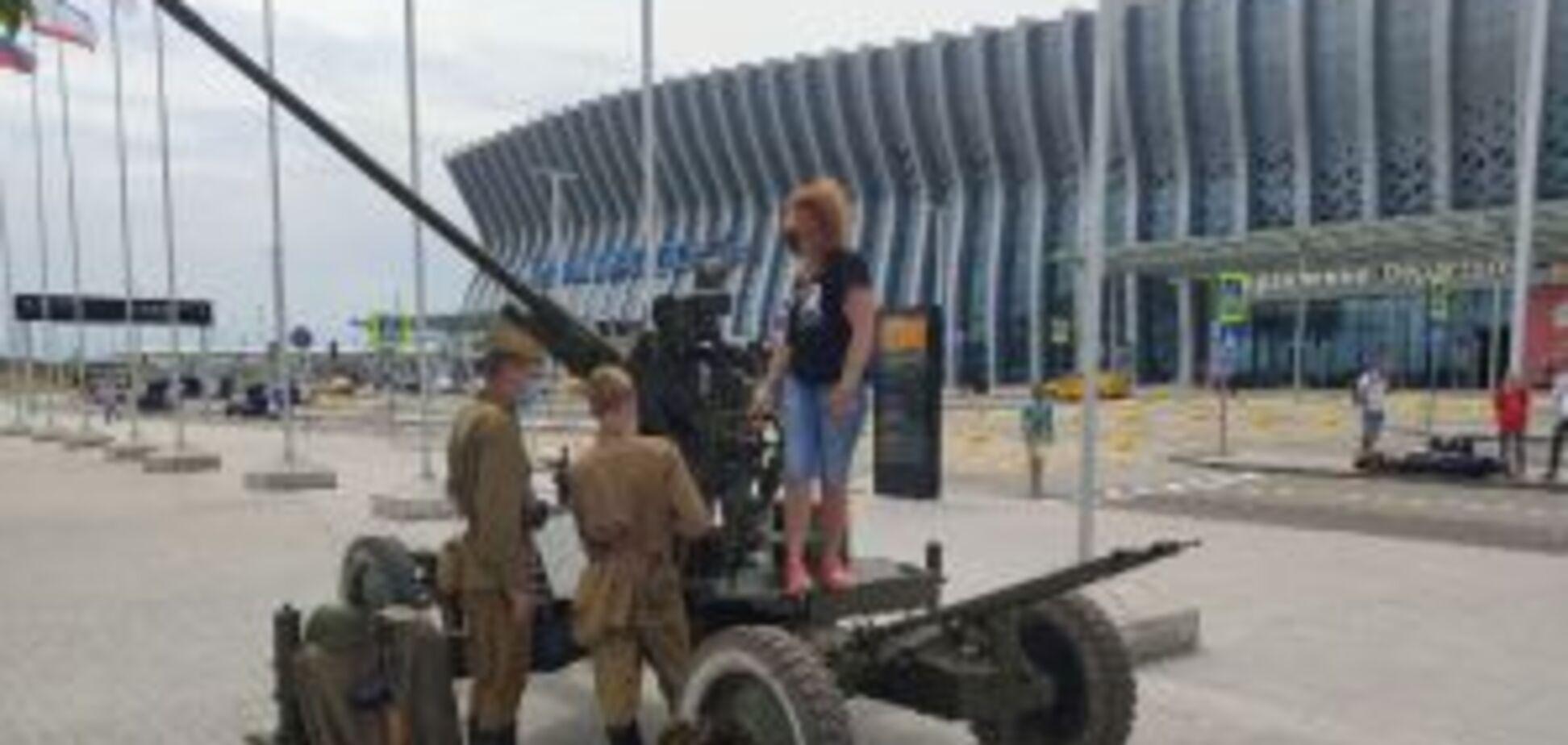 Зенитка в аэропорту Симферополя