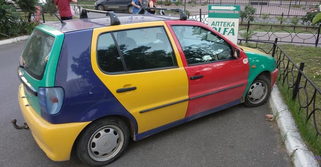 В Украине засветился удивительный Volkswagen на литовских номерах