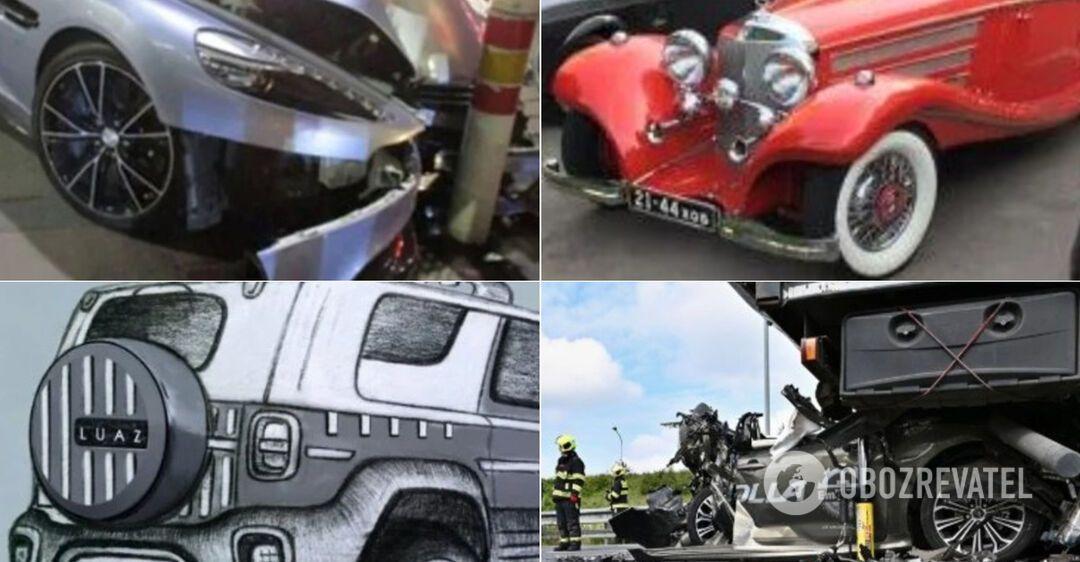 Удивительные ДТП и дорогой Mercedes в Украине
