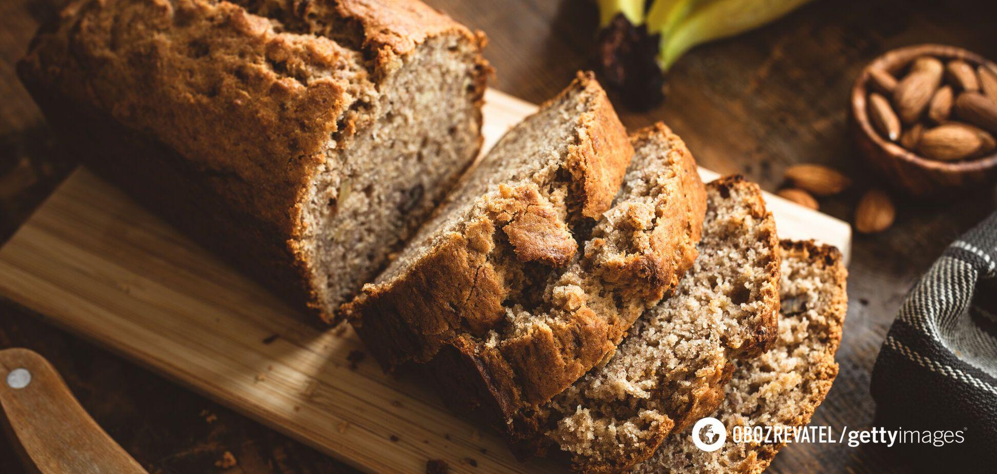 Для приготування бананового хліба можна використовувати фрукти, які вже потемніли