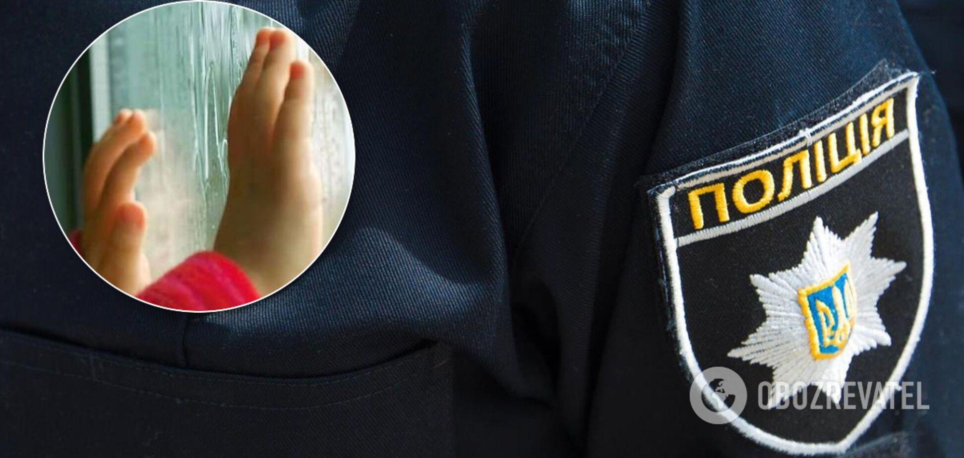 В Киеве трехлетний мальчик выпал из окна девятого этажа и погиб. Иллюстрация