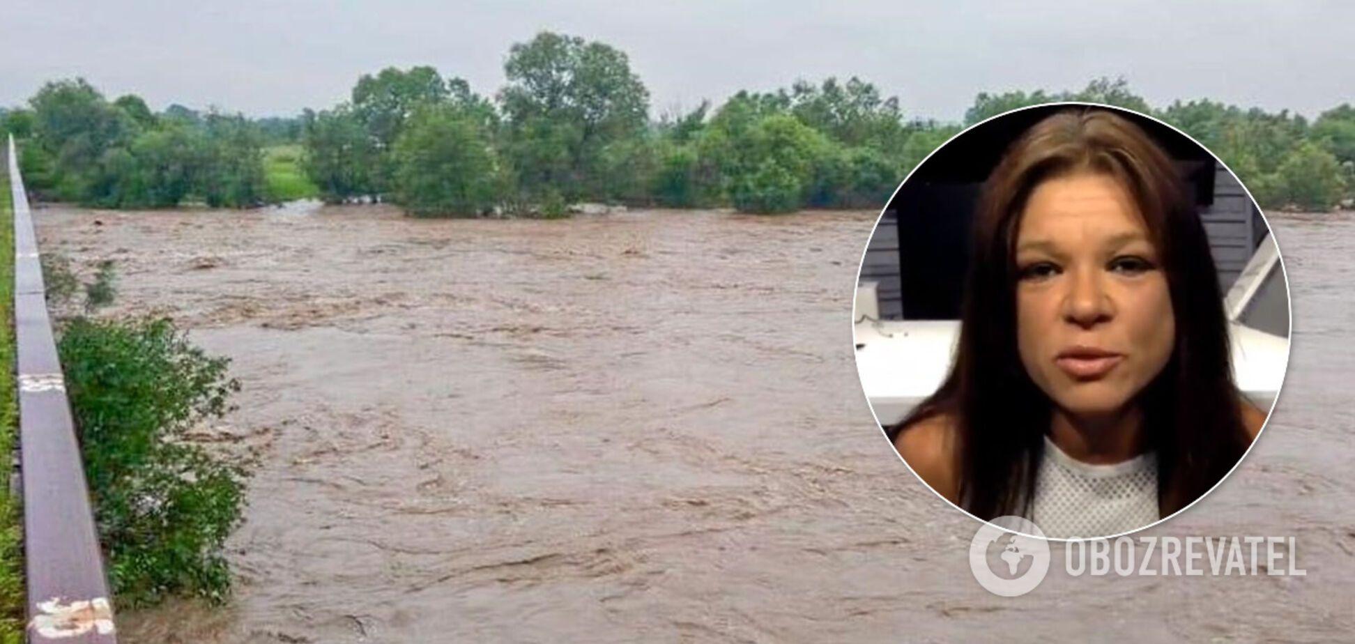 Руслана обратилась к властям из-за наводнения