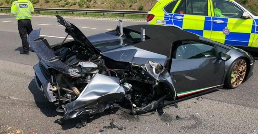 Новый Lamborghini уничтожили через 20 минут после покупки