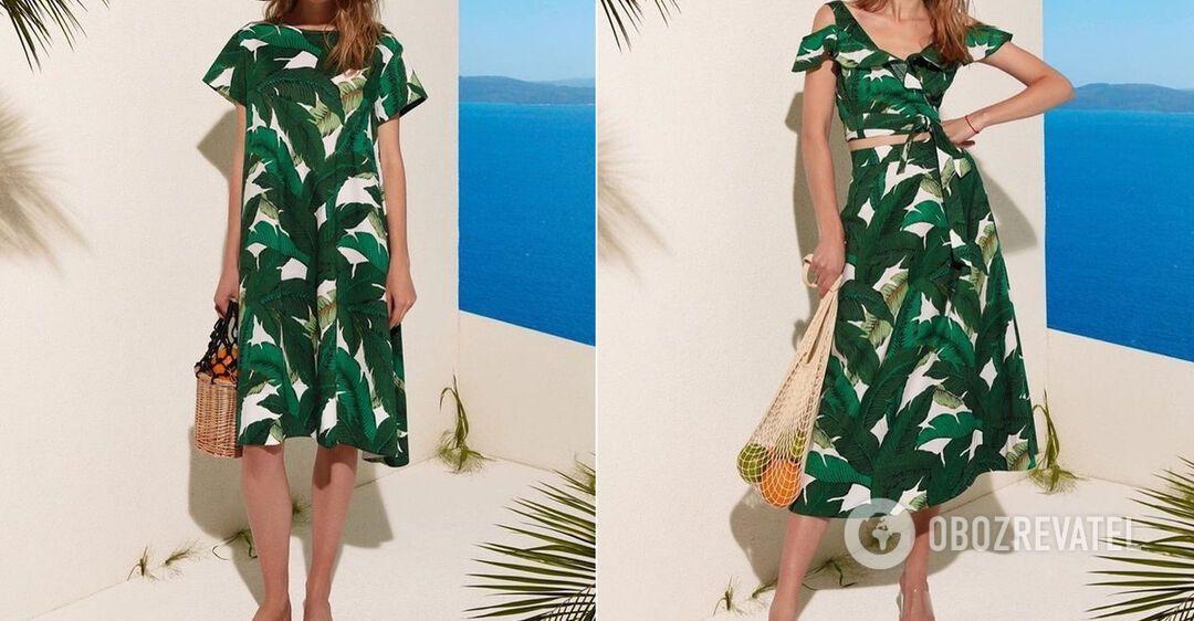 Как носить одежду с тропическим принтом: примеры образов от Андре Тана. Фото