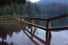 'Затопленный' Синевирское озеро (фото: Facebook НПП Синевир)