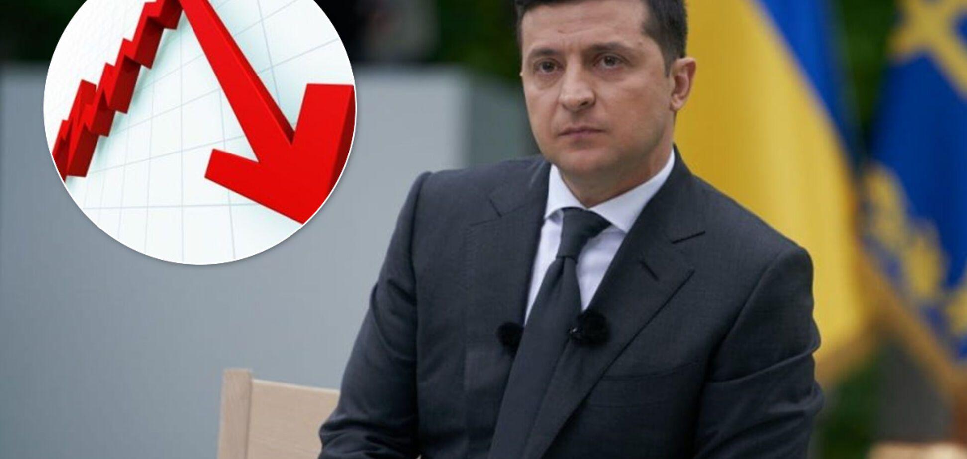 Рейтинг Владимира Зеленского за 9 месяцев упал более чем в 2 раза