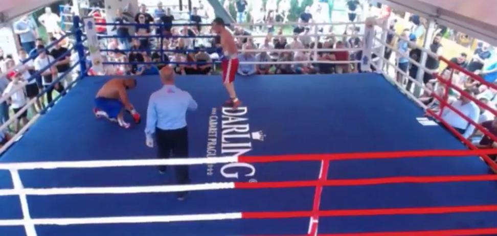 Український боксер перемогою з двома нокдаунами дебютував на профі-рингу