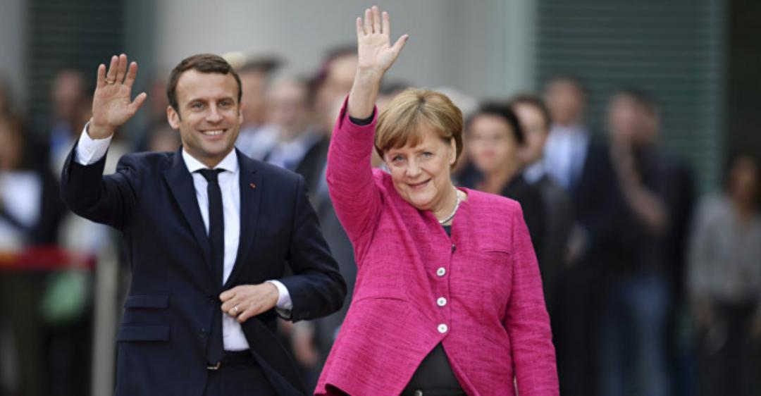Макрон и Меркель встретились в Германии