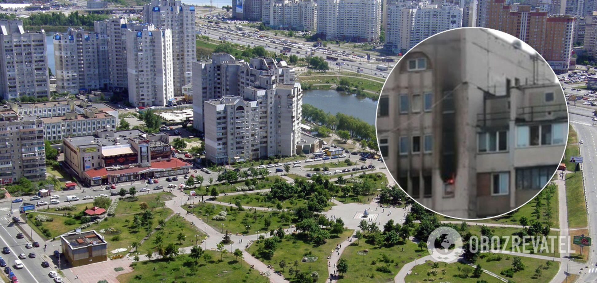 На Позняках у Києві загорілася друга висотка за добу. Відео