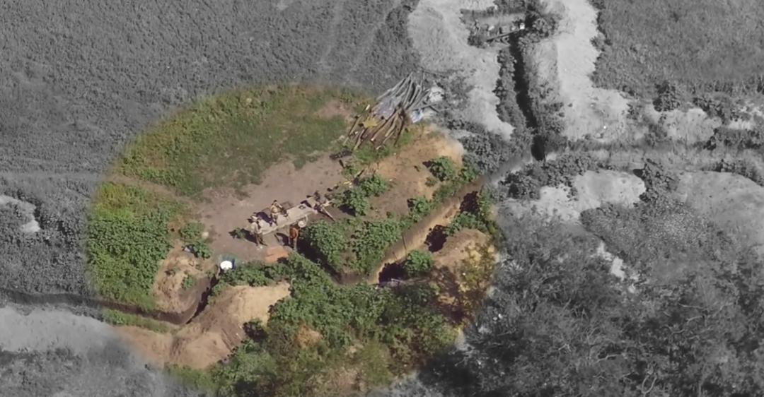 Терористи та їх позиції потрапили на камери коптерів ЗСУ