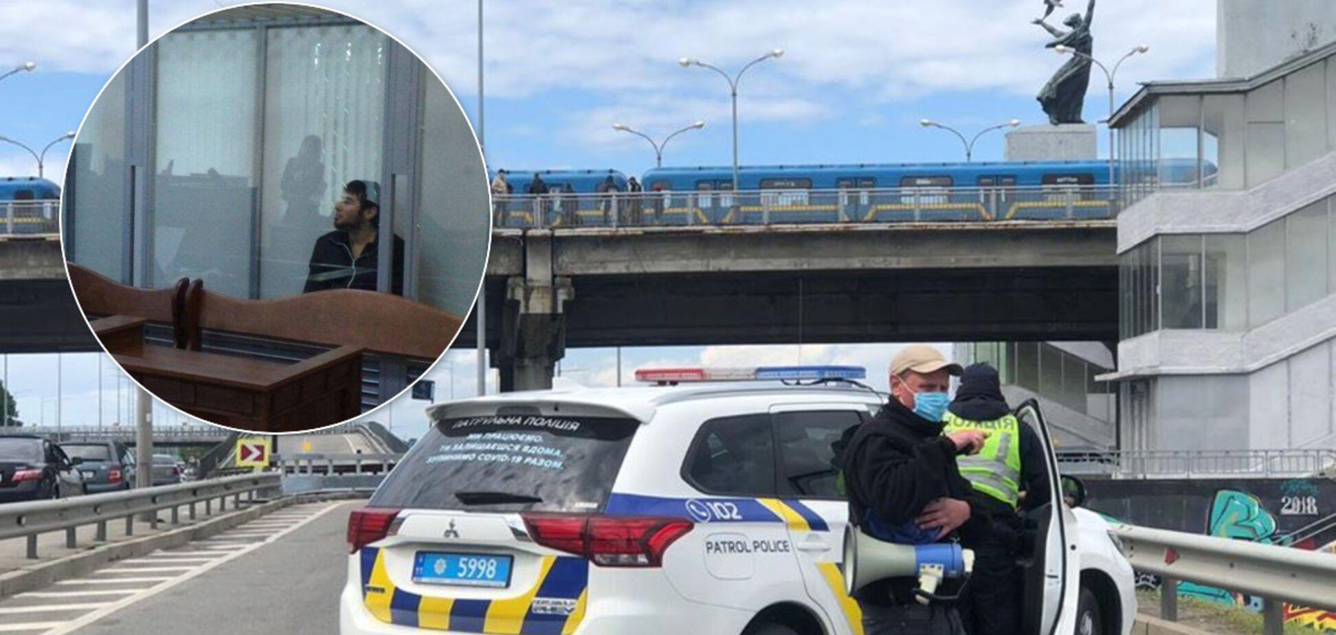 'Минера' моста метро в Киеве арестовали