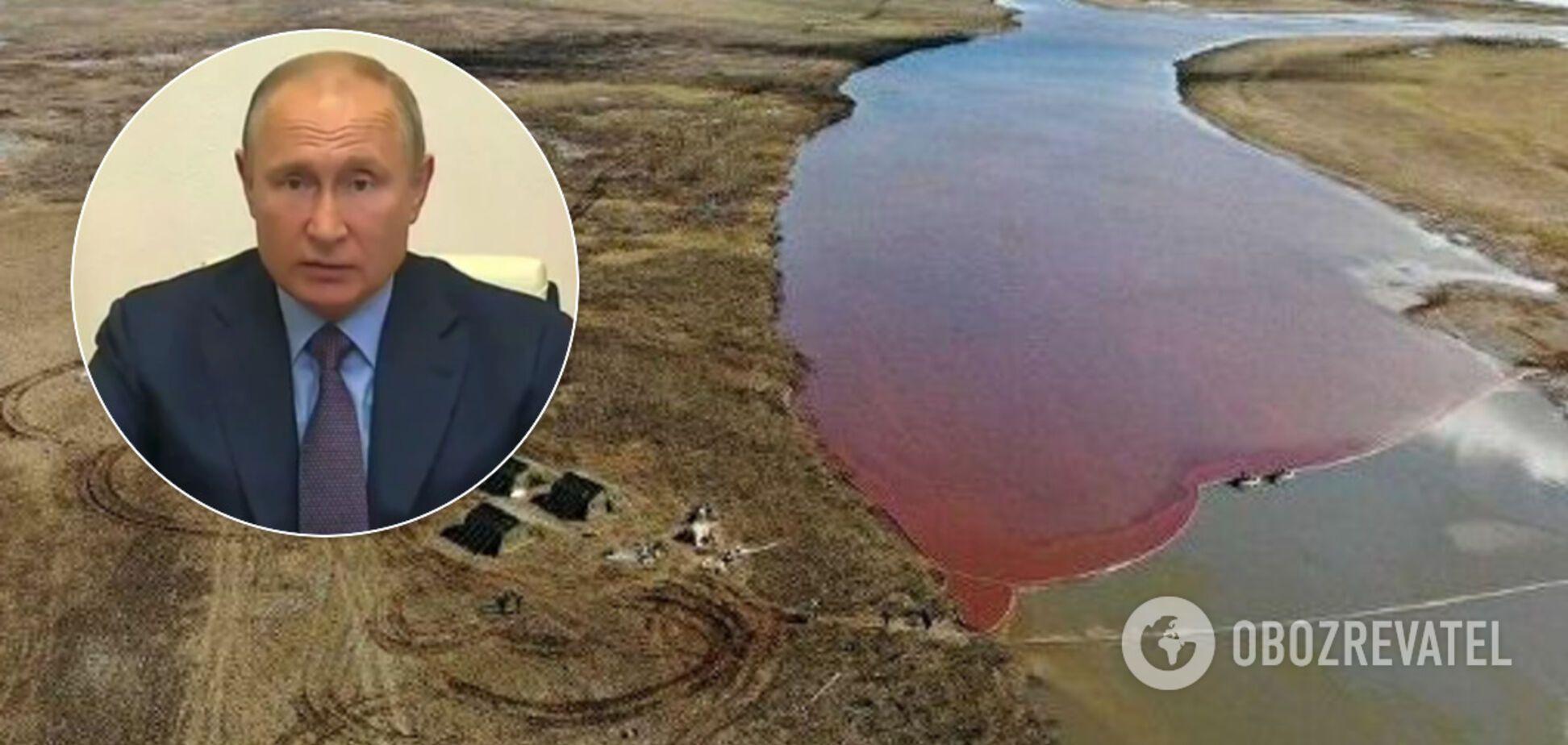 Путін розлютився через розлив палива в Норильську