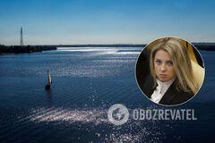 Поклонській порадили випити воду з Дніпра у Чорному морі