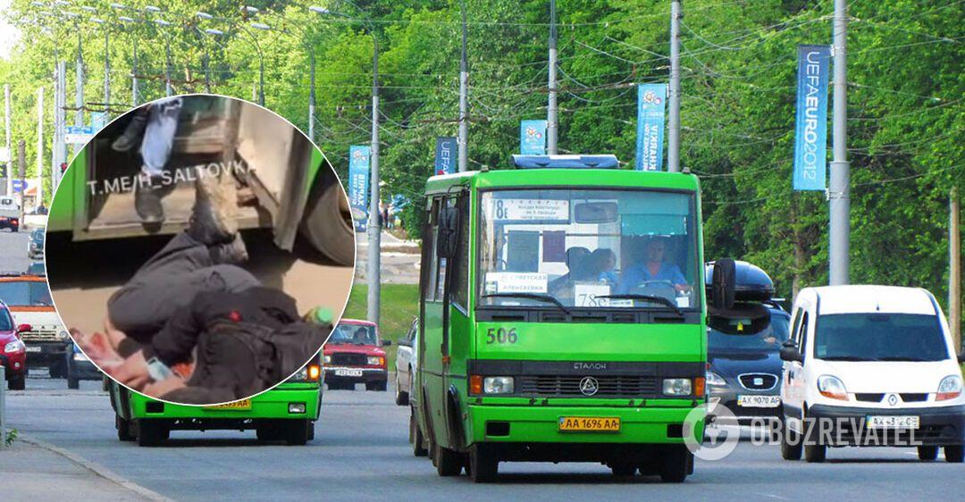 В харьковской маршрутке ссора переросла в избиение: пострадавший ударился головой о бордюр. Видео 18+