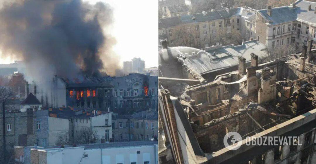 Названы обвиняемые в пожаре в Одесском колледже, который унес жизни 16 человек
