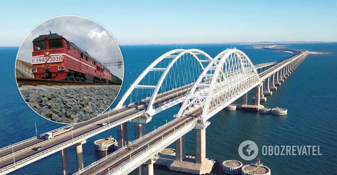 По Кримському мосту пустили перший вантажний потяг. Відео