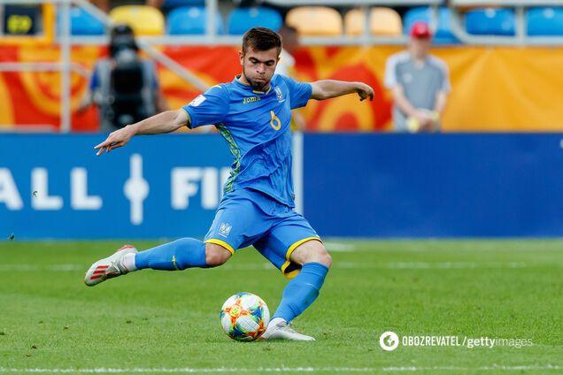 Максим Чех в составе сборной Украины до 20 лет