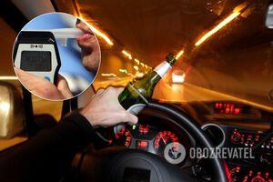 В Украине по-новому будут наказывать за пьяное вождение: все детали