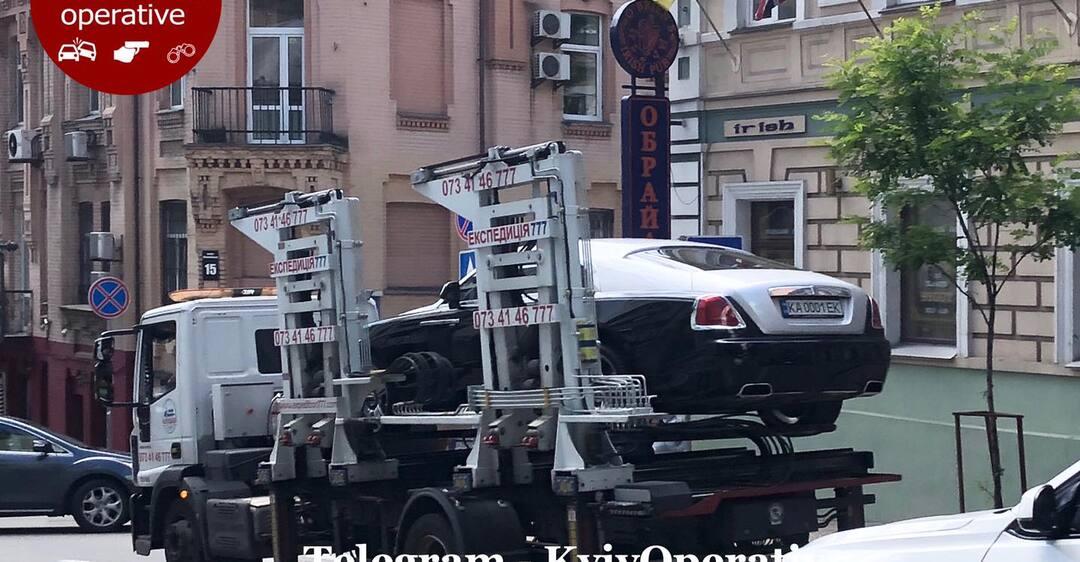 В Киеве за неправильную парковку забрали Rolls-Royce за 11 млн
