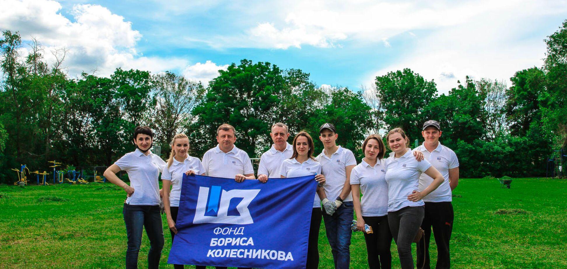 У День довкілля в Костянтинівці облагородили спортивний майданчик із футбольним полем