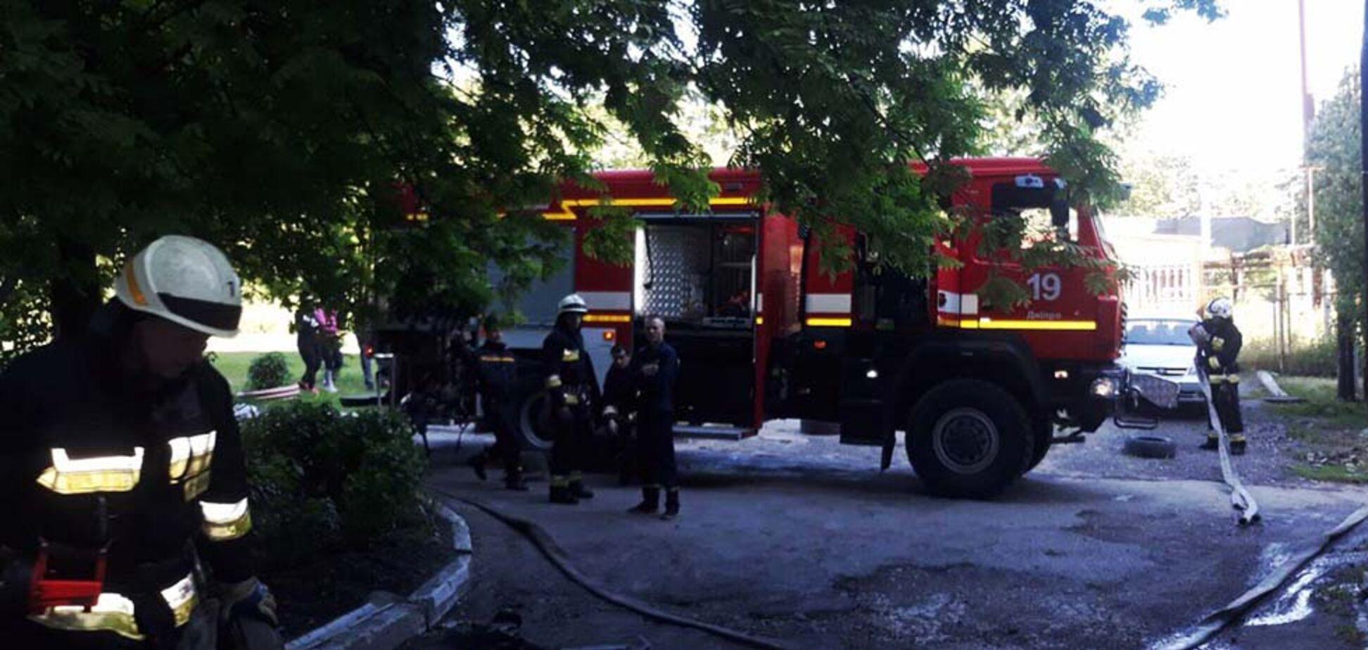 Пожежа в будинку на проспекті Праці. Джерело: Пресслужба ДСНС в Дніпропетровській області