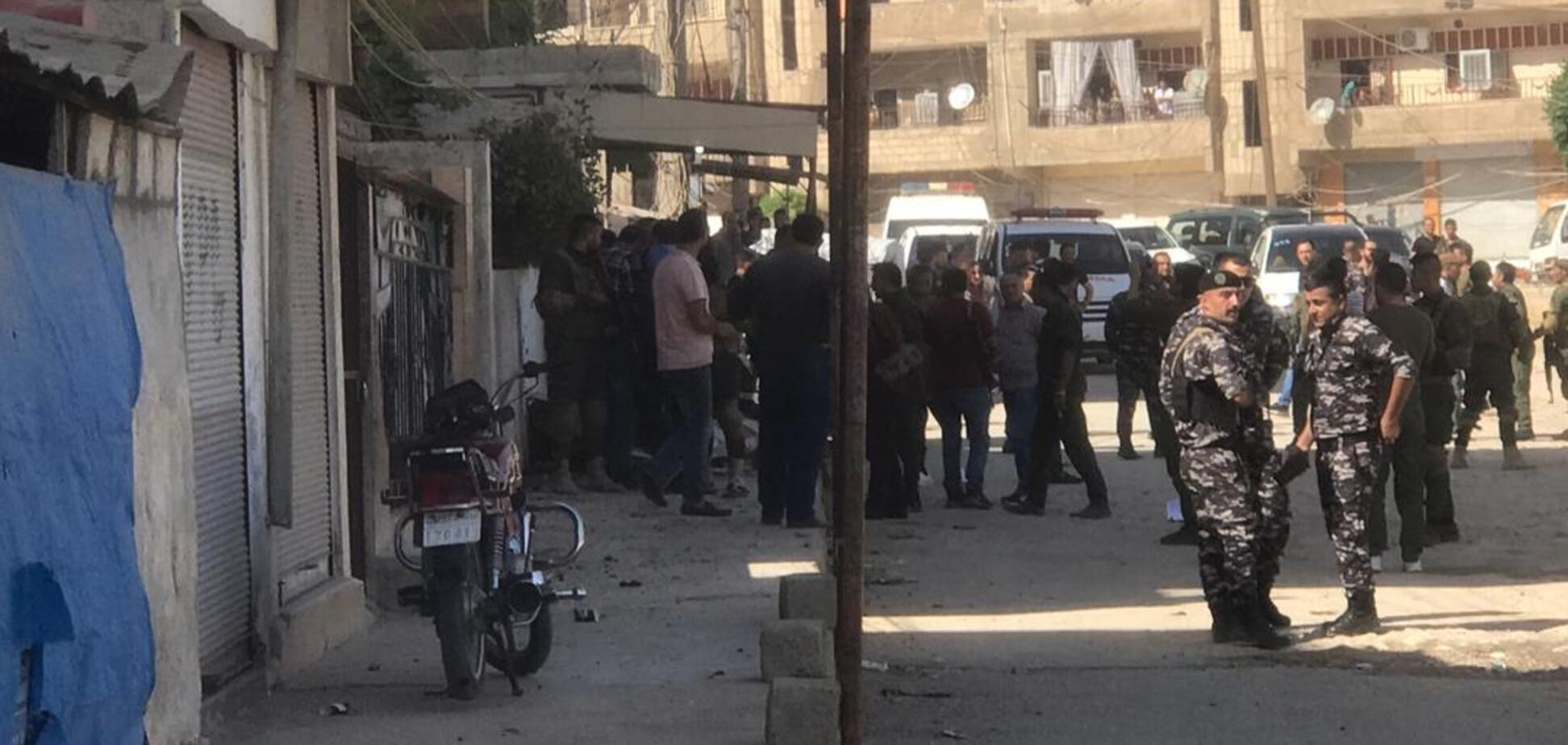 Взрыв в городе Эль-Камышлы
