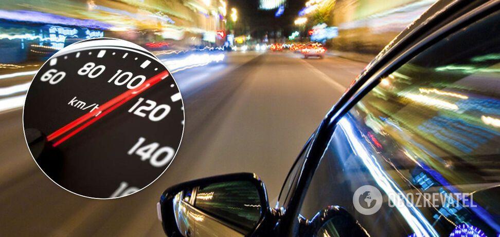В Киеве водитель установил антирекорд нарушения скорости: разогнался до 224 км/ч