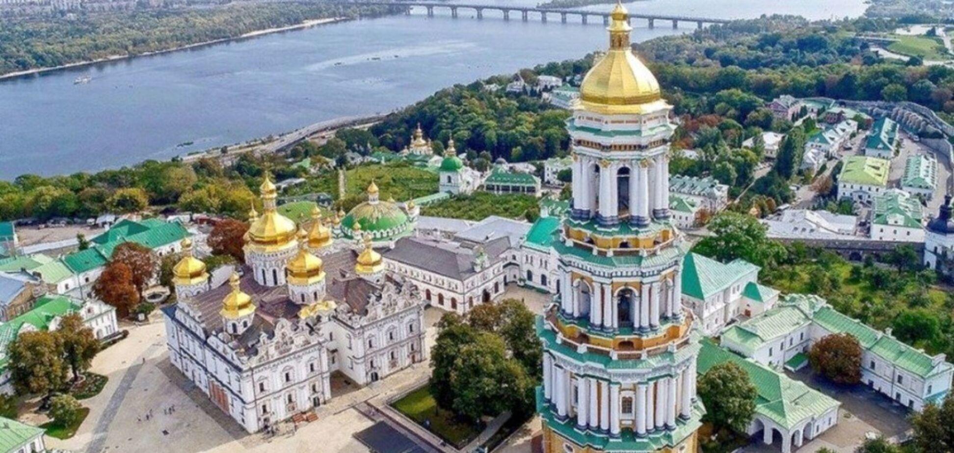 На Трійцю над Лаврою в Києві помітили 'сонячний німб'