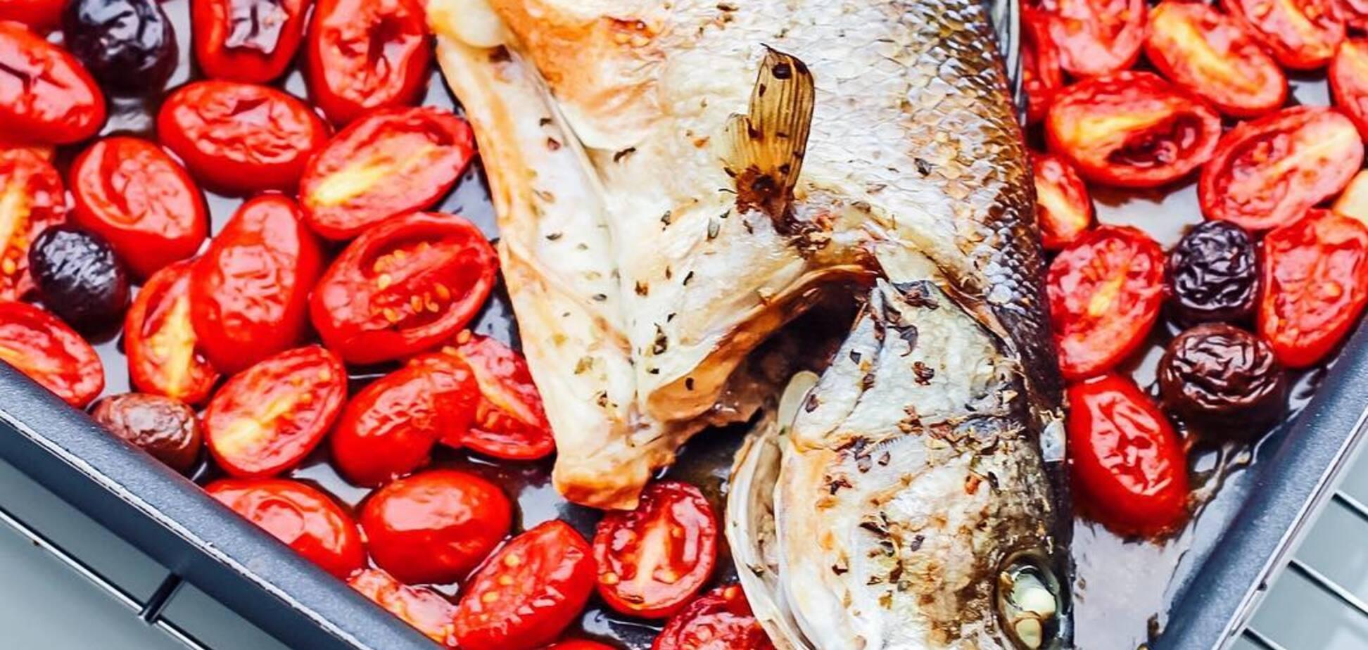 Сібас в божевільній воді - рецепт дуже смачної риби