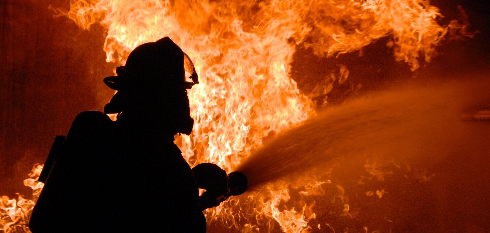 В центре Днепра сгорела иномарка. Видео