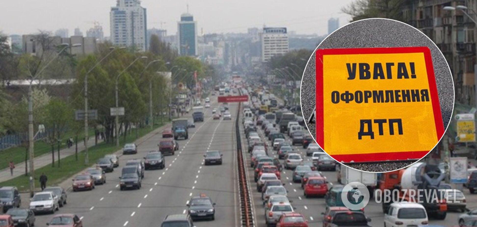 Появилось видео, сделанное накануне страшного ДТП в Киеве: водитель вылетел из авто