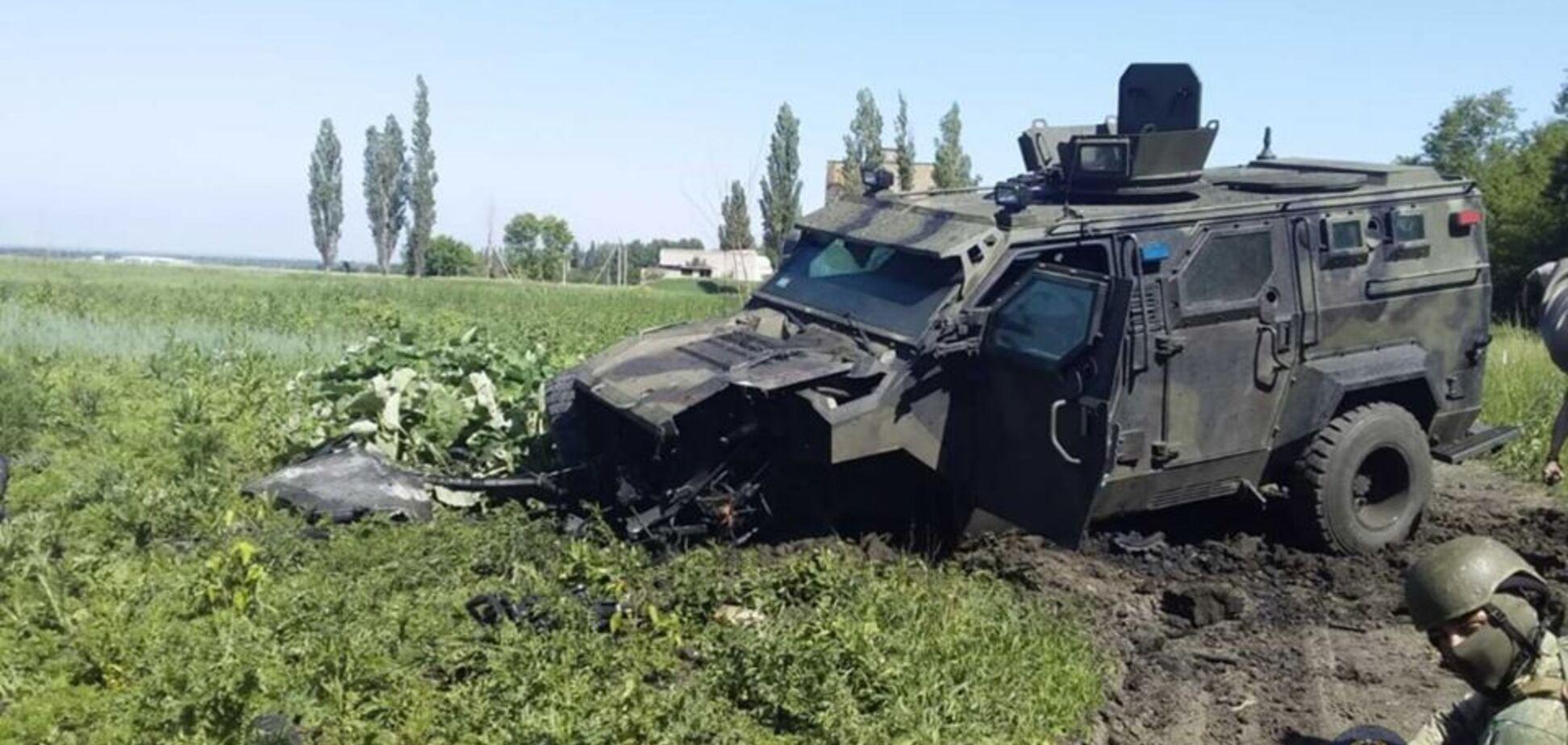 В Авдеевке подорвался автомобиль Нацгвардии: ранены 10 военных