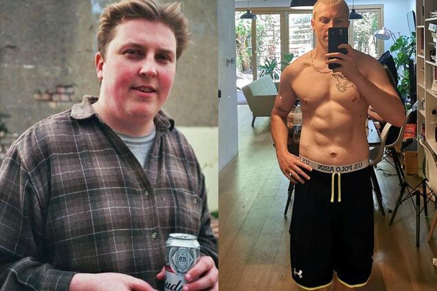 Закомплексований хлопець вагою 130 кг схуд до невпізнання. Фото